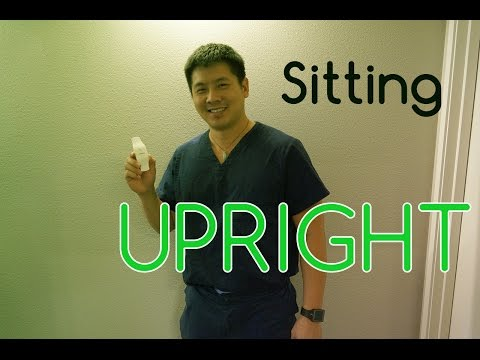 Physical Therapist Reviews UPRIGHT Posture In Sitting