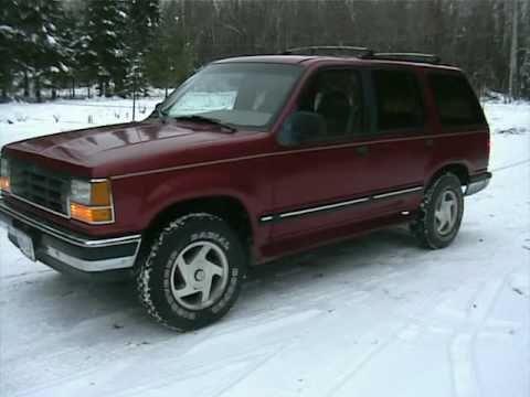 1993 Ford Explorer XLT 4x4 on Ebay YouTube