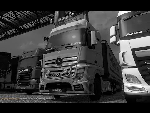 Euro Truck Simulator 2 MP Odc 5 ( Konwój Firmowy Biało-niebieski ) ( Wszystko Na łapucapu )