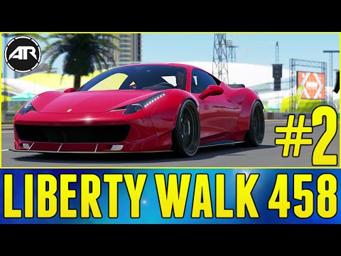 Forza Horizon 3 Let's Play : WIDEBODY FERRARI 458 BUILD!!! (Part 2)