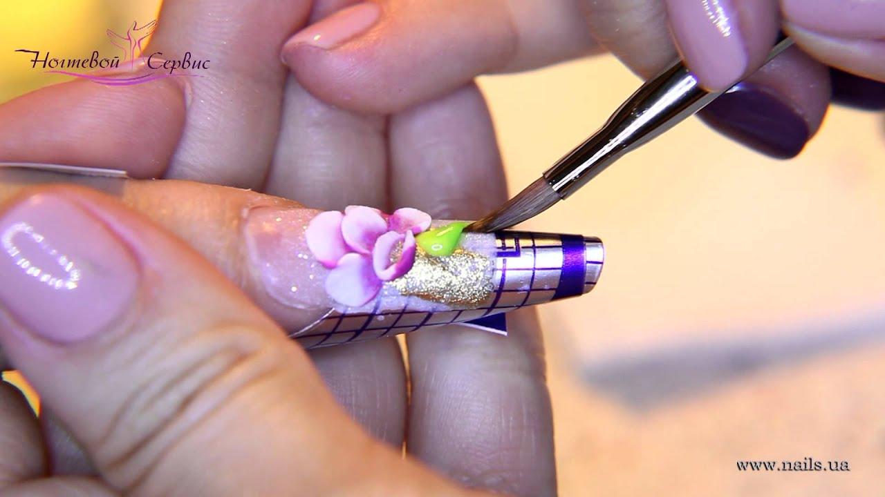 Видеоуроки наращивание ногтей гелями и дизайн