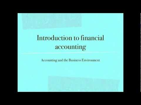Accounting Terms and the Financial Statements - Financial Accounting video