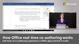 Office 2016 real-time co-authoring and how it works demo