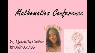Mathematics Conference | By Yeremita Nurhalin _MATH EDU'18 UNSIKA