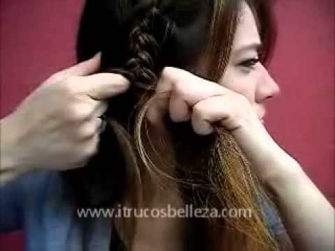coleta de lado con trenza