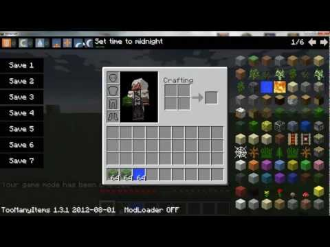 Minecraft 1.6.1 - Como instalar Too Many Items MOD - Español