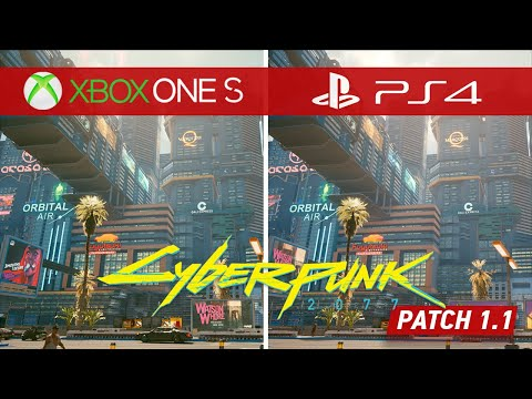 Cyberpunk 2077 Patch 1.1 Comparison - How Do the Xbox One S & PS4 Versions Look Now?