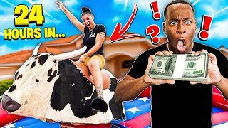 LAST TO FALL OFF MECHANICAL BULL WINS $10,000 CHALLENGE