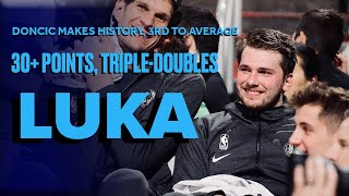 Luka Doncic Is Third Player Ever To Average Triple-Double Scoring 30+ In A Month