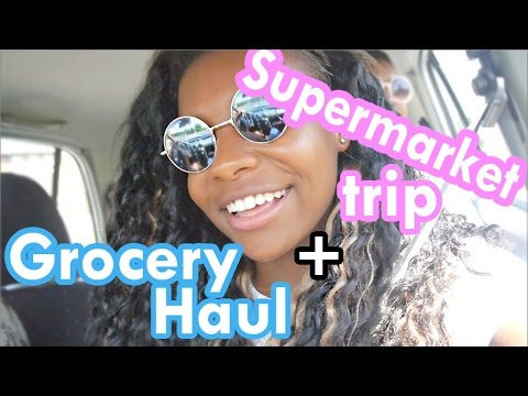 Supermarket trip + Grocery haul