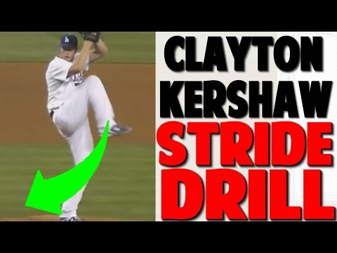 Clayton Kershaw | Stride Drill (Pro Speed Baseball)