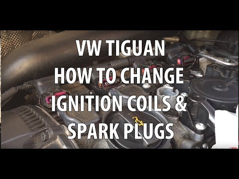 VW/Volkswagen Tiguan  2.0T TSI Spark Plugs & Ignition Coils Replacement.  Removal & Installation