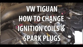 VW/Volkswagen Tiguan  2.0T TSI Spark Plugs & Ignition Coils Replacement,  Removal & Installation