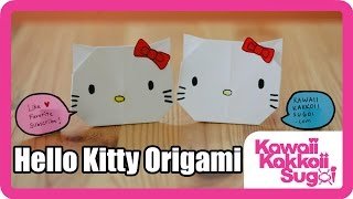 How To Fold Hello Kitty Origami (hd)