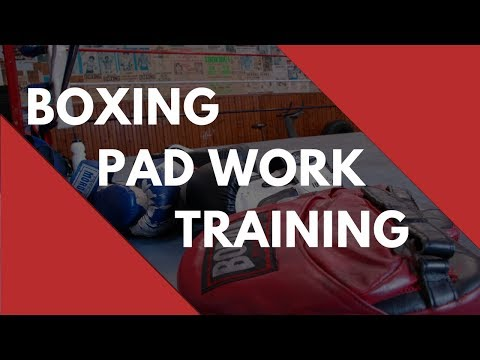 Boxing Pad Work Training - Ken Shamrock mitt work with Patrick Moore