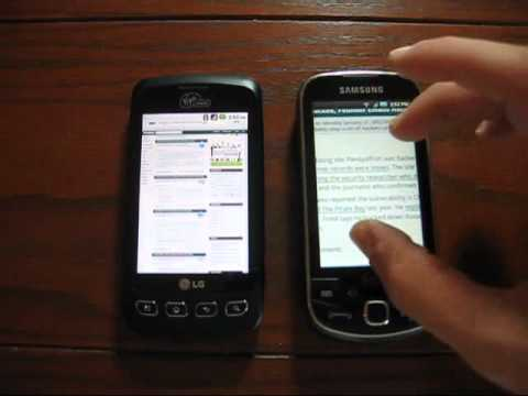 Video: PART 2: Samsung Intercept vs LG Optimus V - a side-by-side comparison