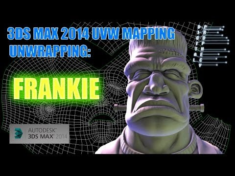 3DS MAX 2014 Unwrap UVW - Re Mapping Frankie in 15 minutes
