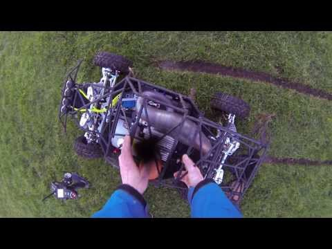 "Losi 5ive-t ""Ultimate rc"" with the rcmax 70cc first ""real"" run 4 februari 2014"