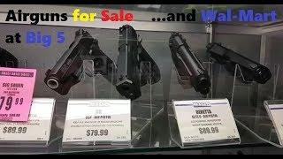 Airguns at Big 5 & Walmart Jan 2018 Air Rifles & Co2 Air Pistols Preview