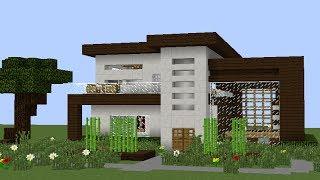 Minecraft como hacer una casa moderna 9 tutoriales for Casa moderna lyna