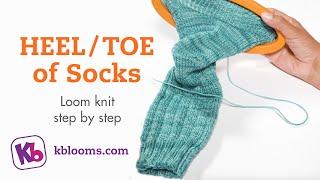 Loom Knit Socks - HEEL &TOE