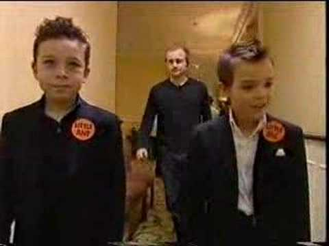 Sam Rockwell and George Clooney on Little Ant & Dec Video