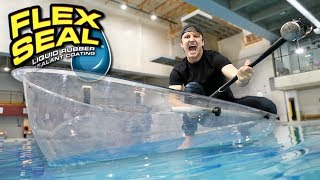 I MADE AN ENTIRE BOAT WITH FLEX TAPE CLEAR!! (TESTING FLEX TAPE CLEAR) As Seen On TV Test!