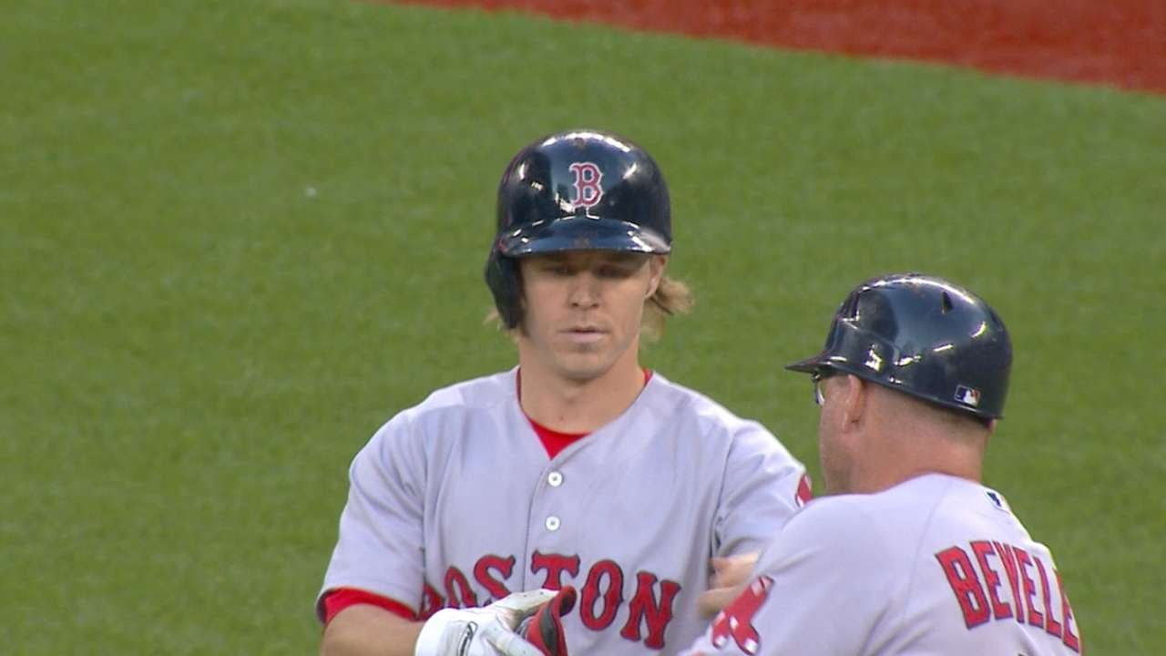 BOS@TOR: Holt tallies four hits in Red Sox's big win