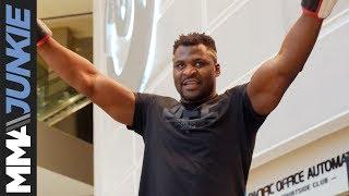 UFC on ESPN 1: Francis Ngannou open workout