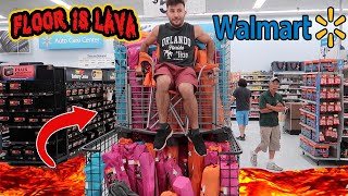 FLOOR IS LAVA CHALLENGE AT WALMART!