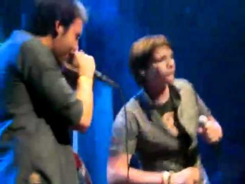 Matthew Lewis and James Phelps singing karaoke - Twist and Shout