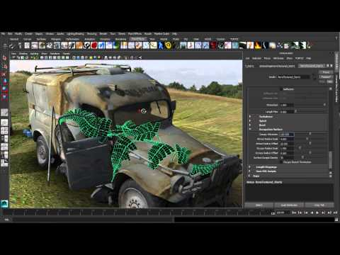 Maya 2014 New Features: Paint Effects Enhancments
