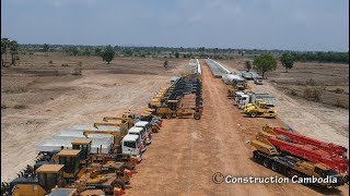 Amazing Video! Hundreds Of Machinery Construction Heavy Equipment For High Speed Roads In Cambodia