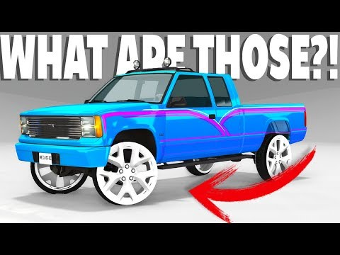 WHAT ARE THOSE?! GIANT DONK RIMS - BeamNG Drive Rod's Donk Rims Mod