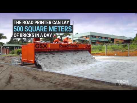 Monster road building machine