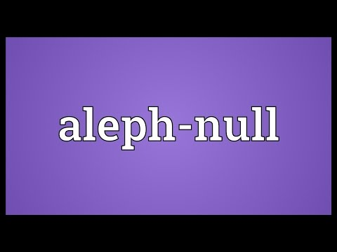 Header of aleph-null