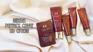 İnceleme | Missha Perfect Cover BB Cream - 5 Rengin Swatch