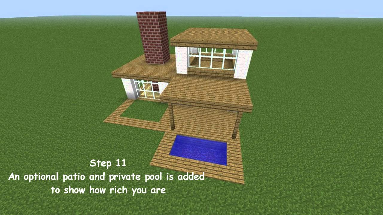 Minecraft modern house tutorial youtube for Minecraft modern house designs easy