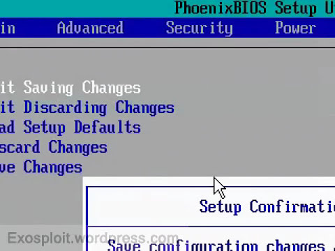 Change Boot Order and Boot from a CD/DVD