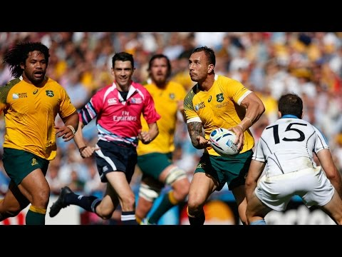 Quade Cooper's outrageous offload for Australia