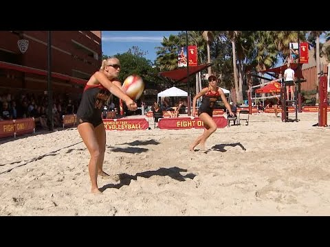 Recap: USC beach volleyball picks up pair of wins over Long Beach State, Cal