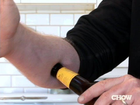 How to Open a Beer with Your Forearm - CHOW Tip Music Videos