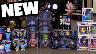 FNAF BLACKLIGHT MERCH EXCLUSIVE LOOK || Mystery Minis, Plushies, Action Figures, Pops, etc