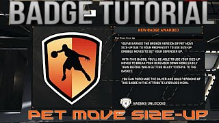 Nba 2k16 badge tutorial- HOW TO BREAK ANKLES IN NBA 2K16-  pet move size up