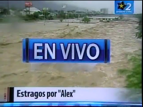 HURACAN ALEX EN MONTERREY, MEXICO. JULIO 1 DEL 2010