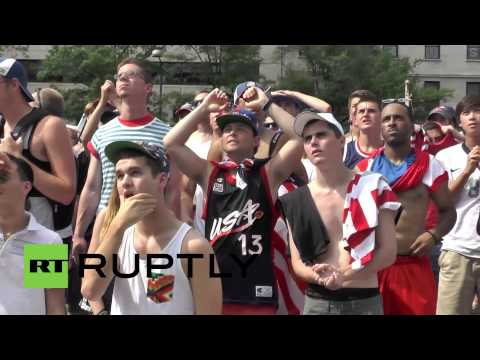 USA: Fans wilt in heatwave as World Cup squad goes out to Belgium