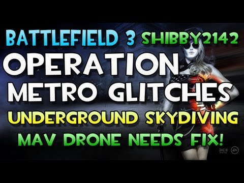 Battlefield 3 - Skydiving & Map Glitching on Operation Metro - BF3 MAV Drone Exploiting NEEDS FIX!