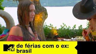 Bifão empurra Stefani na piscina   De Férias Com O Ex Brasil Ep. 07