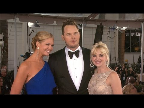 Chris Pratt and Anna Faris are Adorable at the Golden Globes