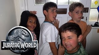 "T-Rex Vs Kids: Jurassic World Parody: ""Dinosaur House"""